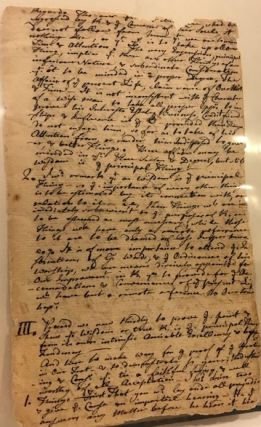 TWO MANUSCRIPT SERMONS ON WISDOM, PREACHED IN SUDBURY, MASSACHUSETTS, JUNE 12, 176[0?], MARCH 28, 1762, AND AGAIN IN 1764.
