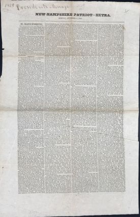 NEW-HAMPSHIRE PATRIOT --- EXTRA. MONDAY, DECEMBER 8, 1828.... MESSAGE TO THE SENATE AND HOUSE OF...