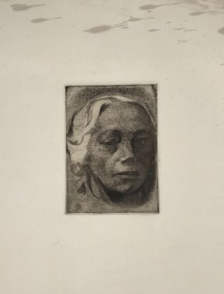 SELF PORTRAIT [supplied title]. Kathe Kollwitz