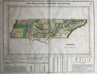 GEOGRAPHICAL, STATISTICAL, AND HISTORICAL MAP OF TENNESSEE. No. 28 [caption title]. H. C. Carey,...