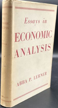 ESSAYS IN ECONOMIC ANALYSIS. Abba P. Lerner