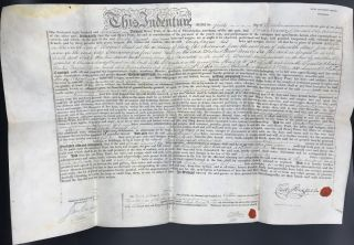 DEED OF INDENTURE FROM HENRY PRATT, CITY OF PHILADELPHIA, MERCHANT TO CONDY RAGUET, OF THE SAID CITY, MERCHANT FOR A LOT SITUATED ON THE SOUTH SIDE OF WALNUT STREET IN THE CITY OF PHILADELPHIA, SEPT. 1, 1818.