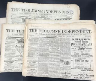 THE TUOLUMNE INDEPENDENT. Vol. 8, # 3, 7-11, 38, 45, 46, 49; Vol. 9, # 1-3