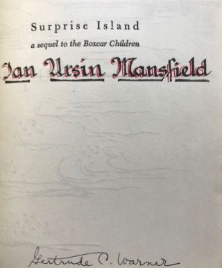 SURPRISE ISLAND. A sequel to The Boxcar Children. Illustrated by Mary Gehr.
